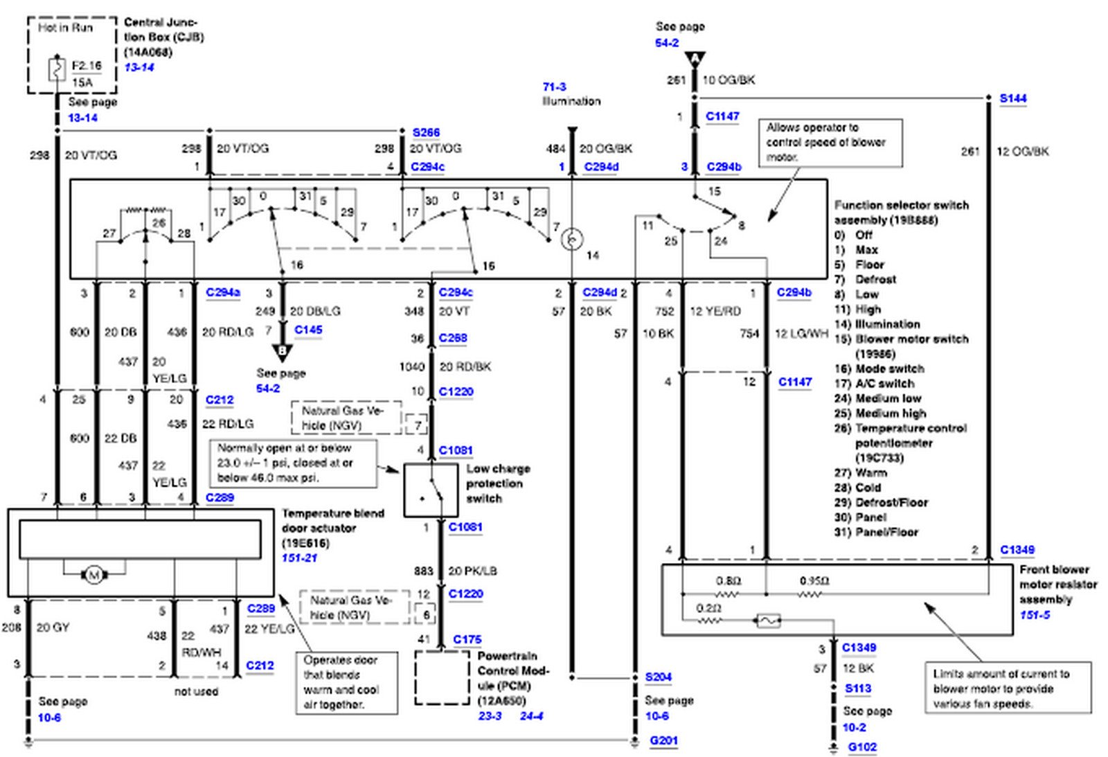 99 Ford Crown Vic Radio Wiring Diagram