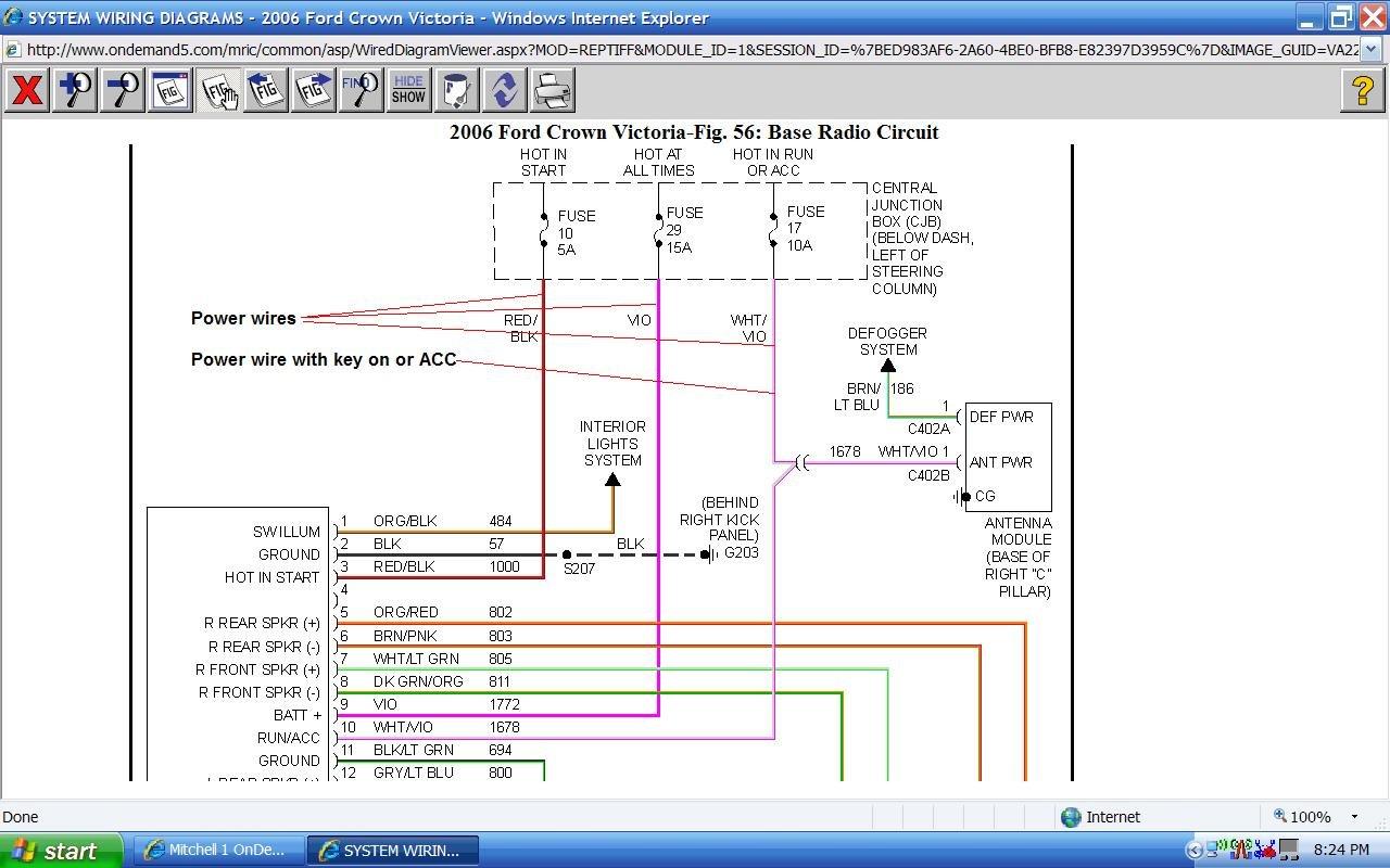 07crown Victoria Factory Radio Wiring Diagram