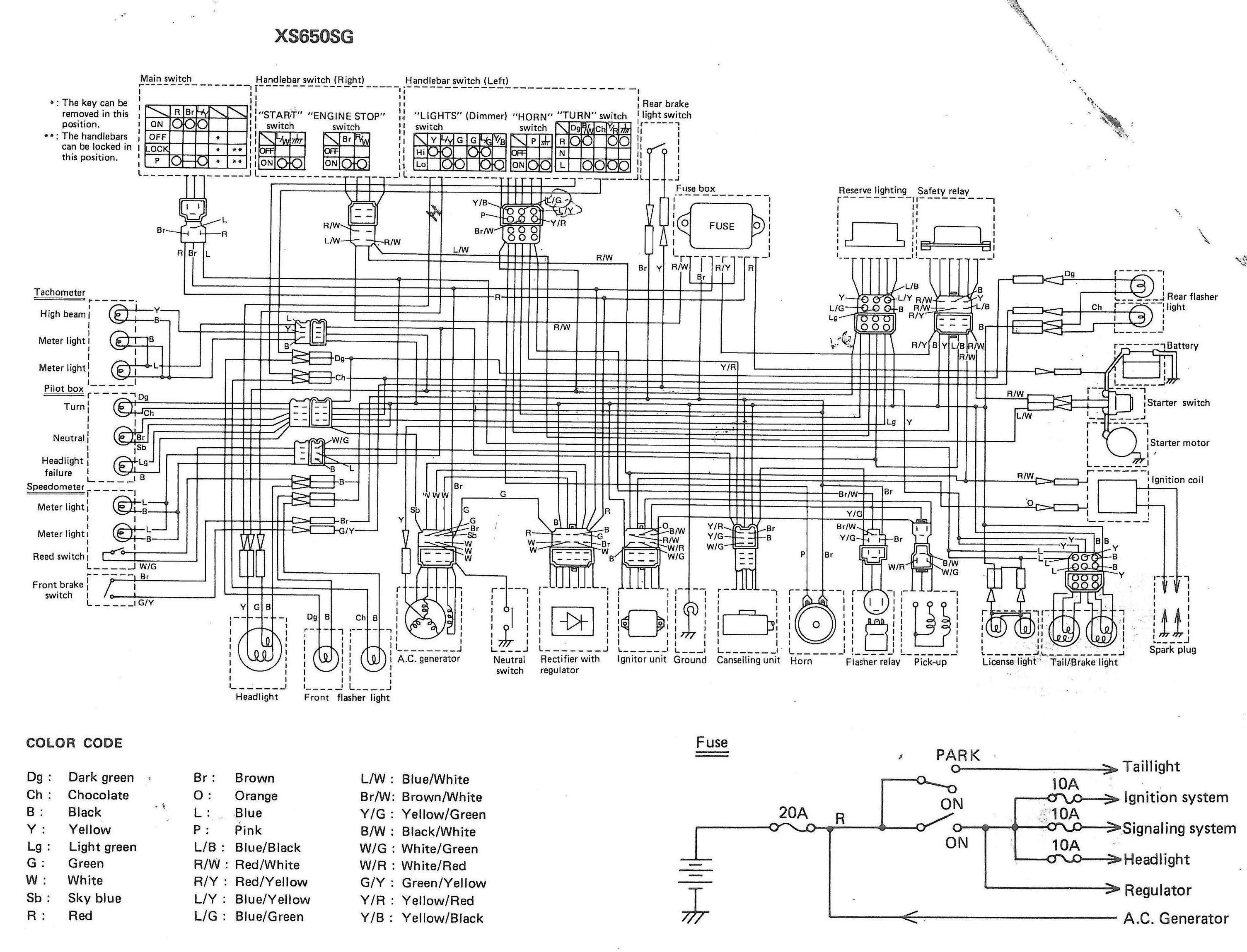1978-yamaha-xs650-wiring-diagram-13 Xs Simplified Wiring Harness on