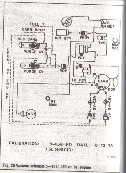 1979 Ford 351m Vacuum Diagram