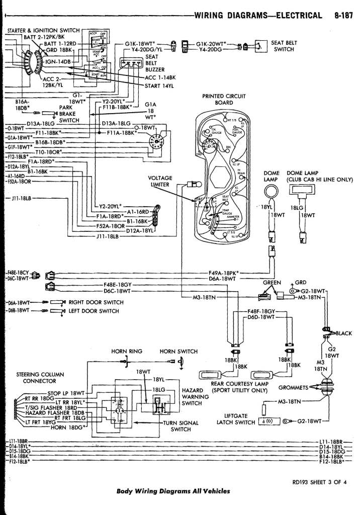 1984 Dodge D150 Wiring Diagram