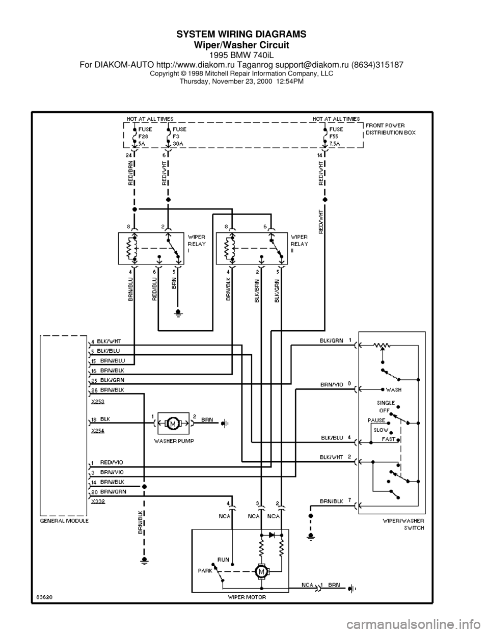 Where Can I Download The Fuse Wiring Diagram For A 2001 Manual Guide