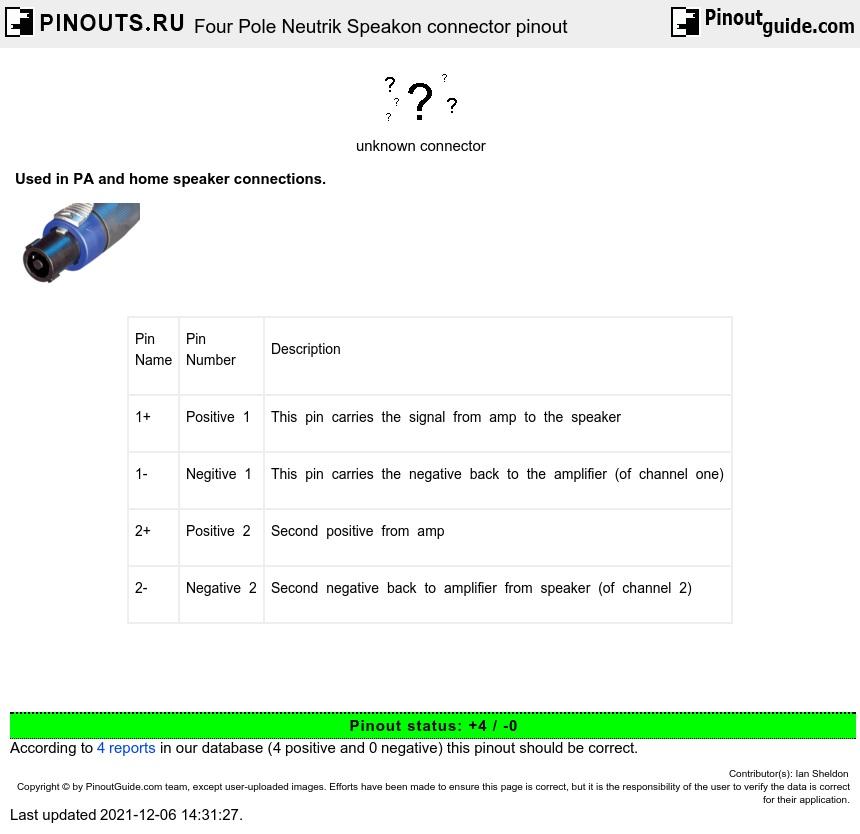 download diagram 4 pole speakon wiring diagram full