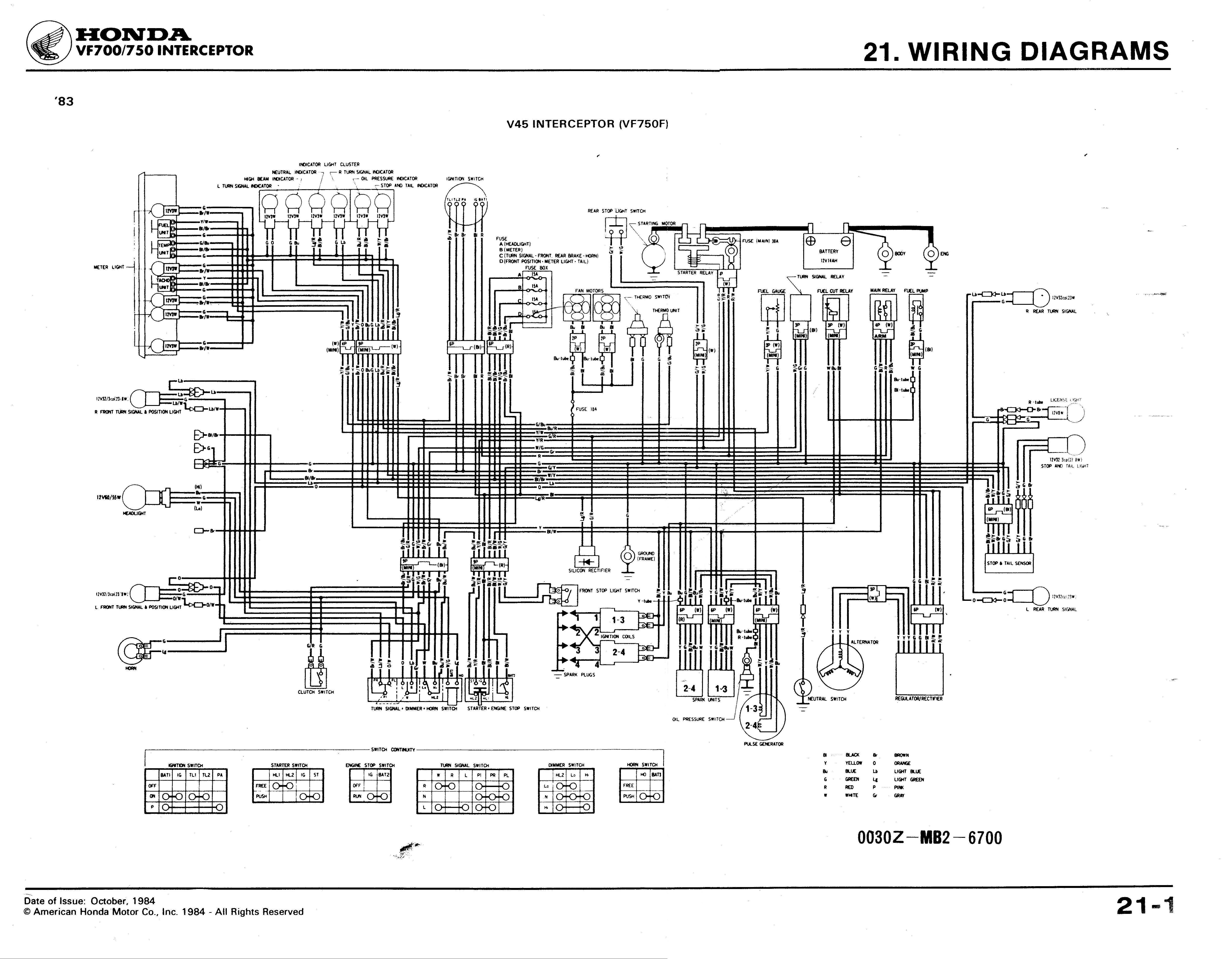 2001 Honda Shadow 750dc Wiring Diagram