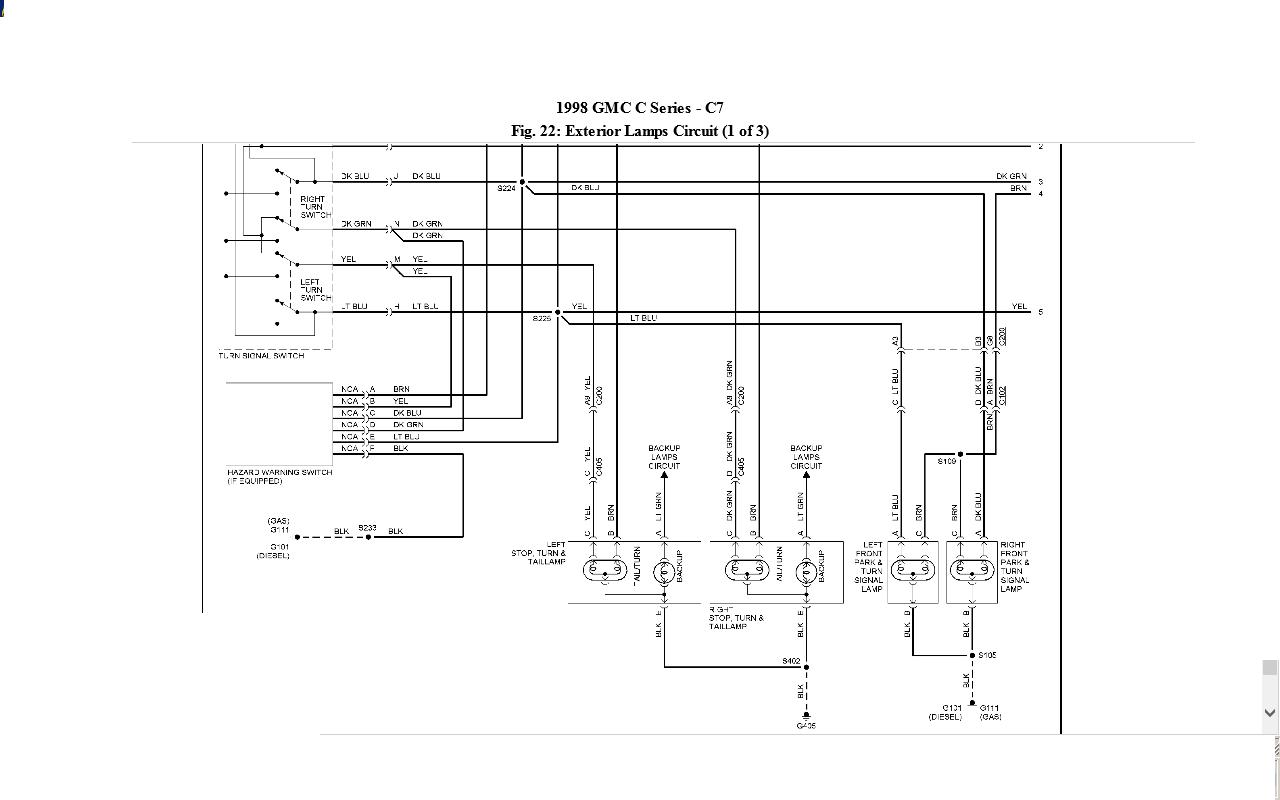 2002 chevrolet c7500 wiring diagram