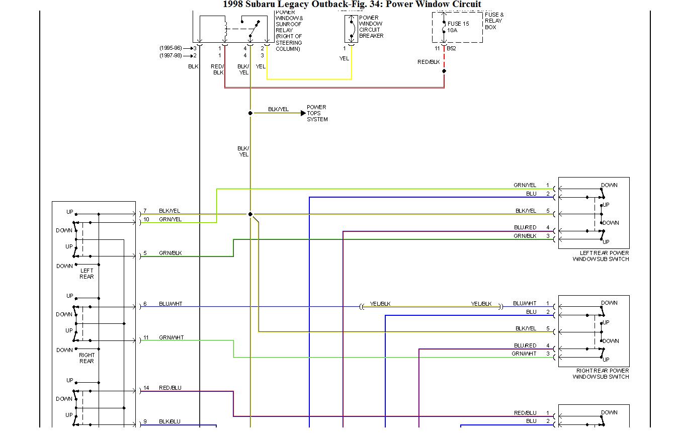 2002 Subaru Outback Radio Antenna Amp Wiring Diagram