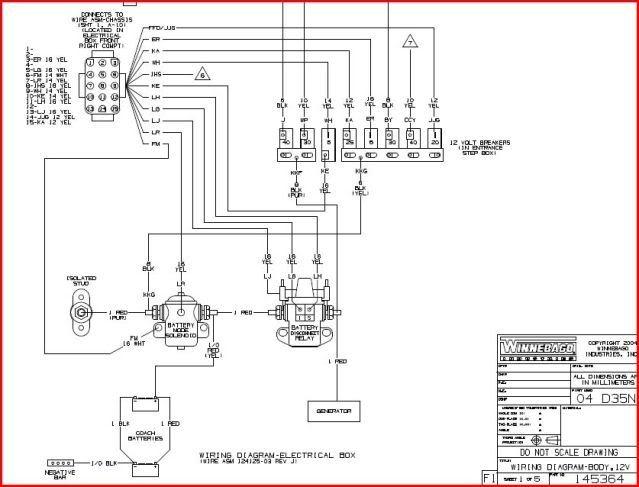 2002 Winnebago Horizon Itasca A  C Wiring Diagram