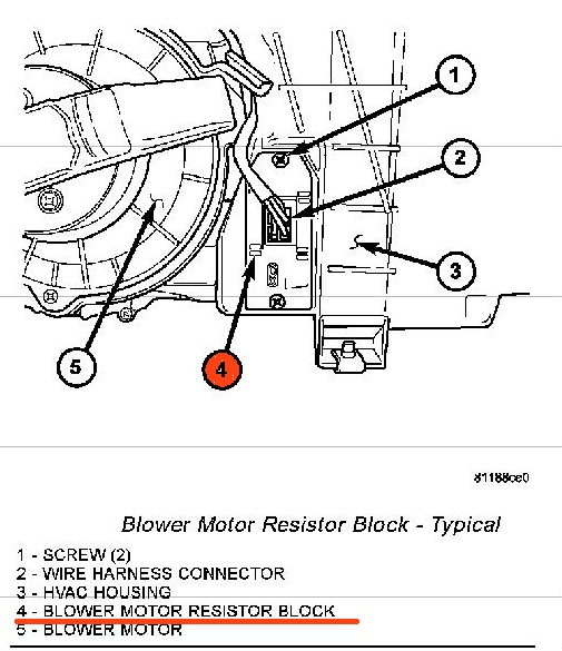 2004 Dodge Dakota Blower Resistor Wiring Diagram