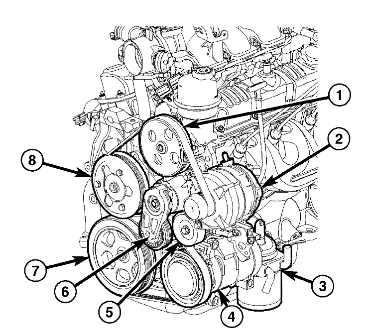 2005 Dodge Ram 1500 4 7 Serpentine Belt Diagram