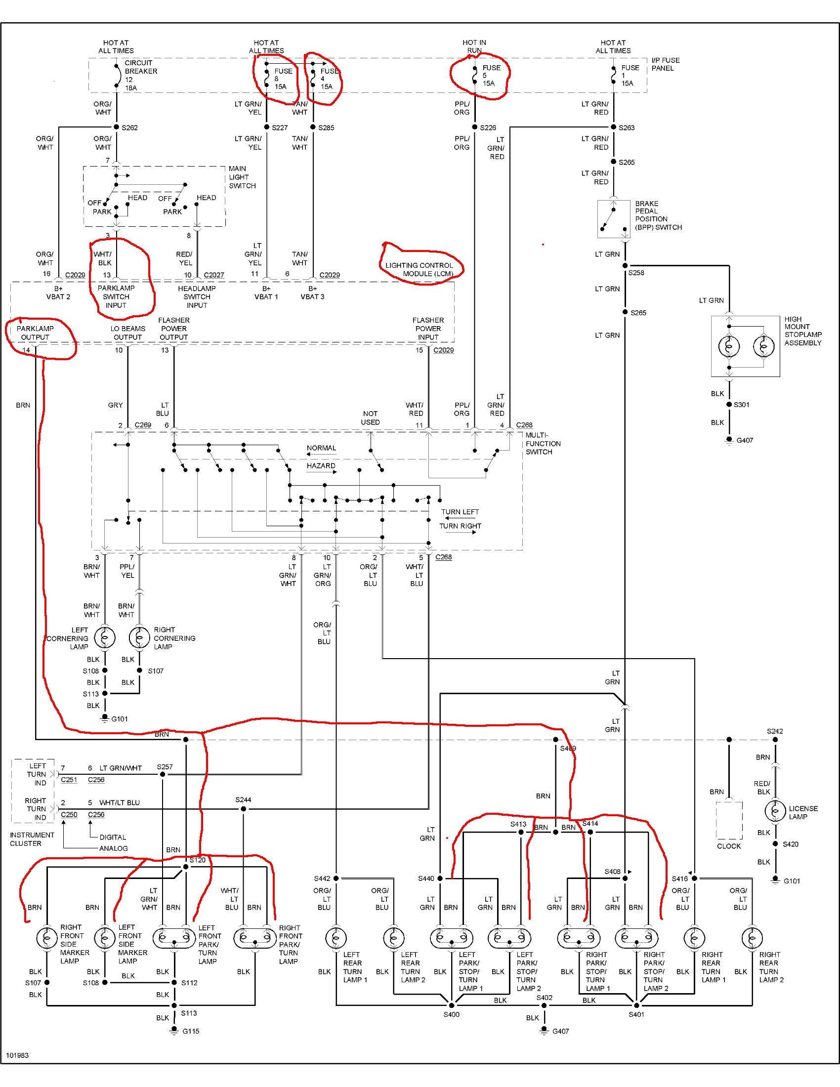 2006 Ford Crown Victoria Police Interceptor Fuse Box Diagram