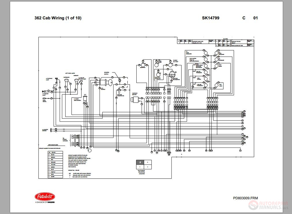 2006 Peterbilt 379 Fuse Panel Diagram