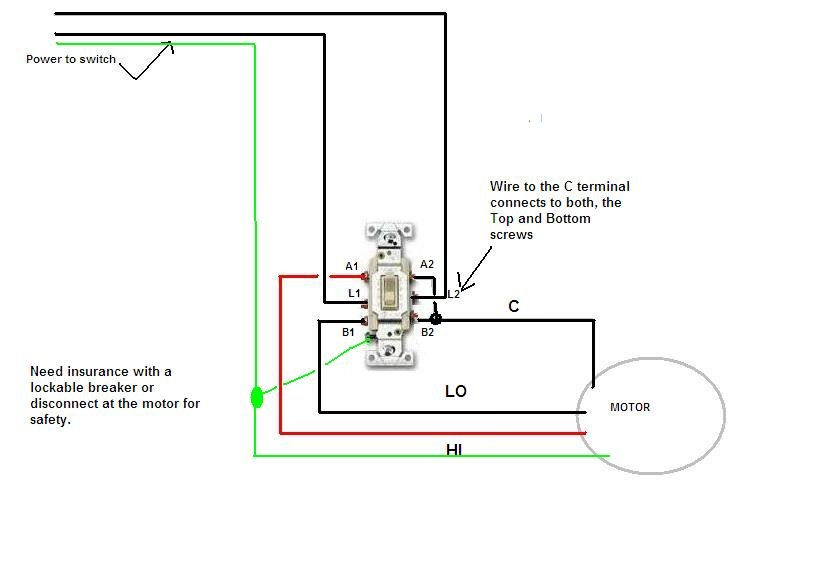 230v 2 Speed Motor Dpdt Switch Wiring Diagram