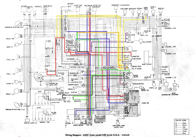 1973 240z Wiring Diagram