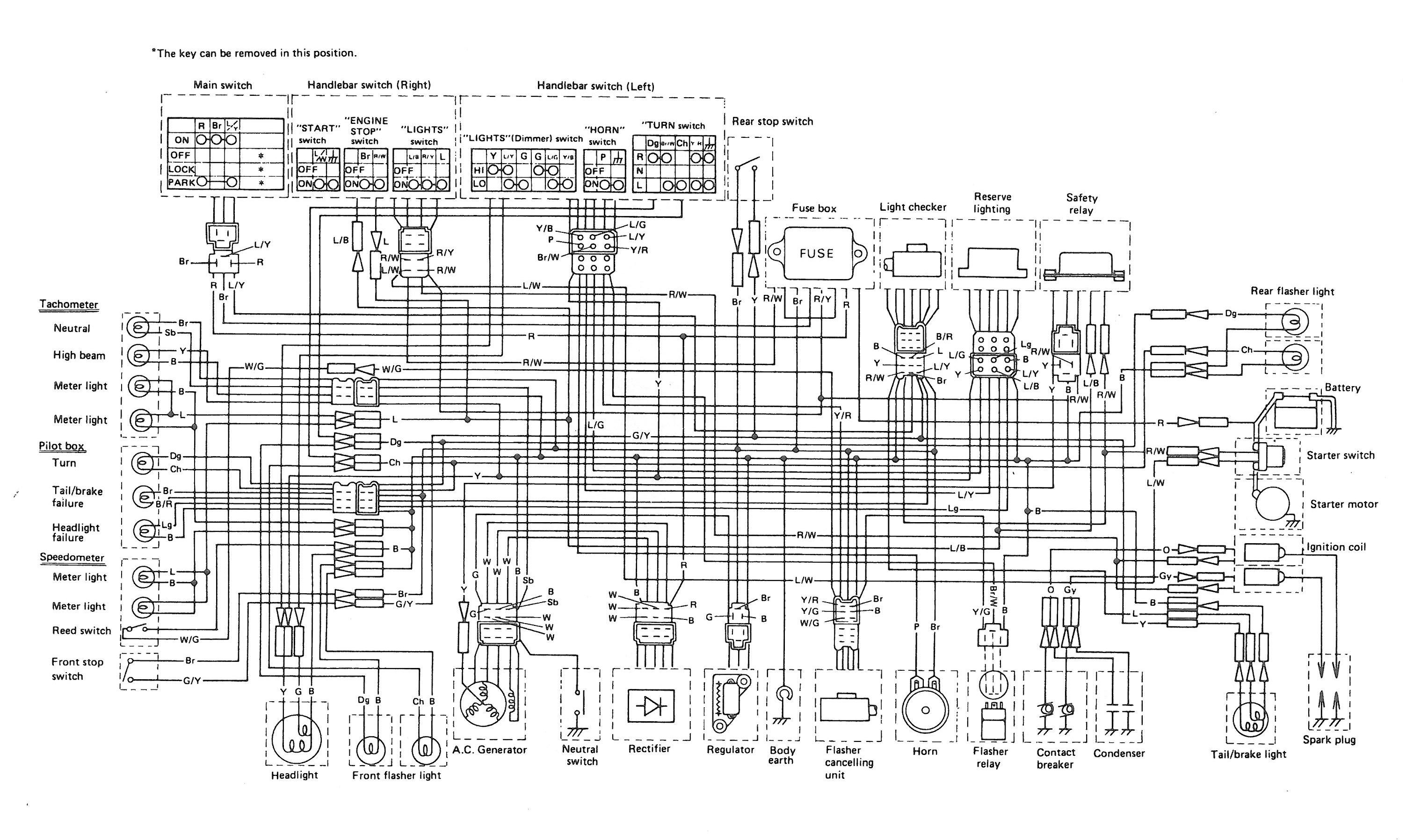 2h9 1979 Yamaha Xs1100 Wiring Diagram European
