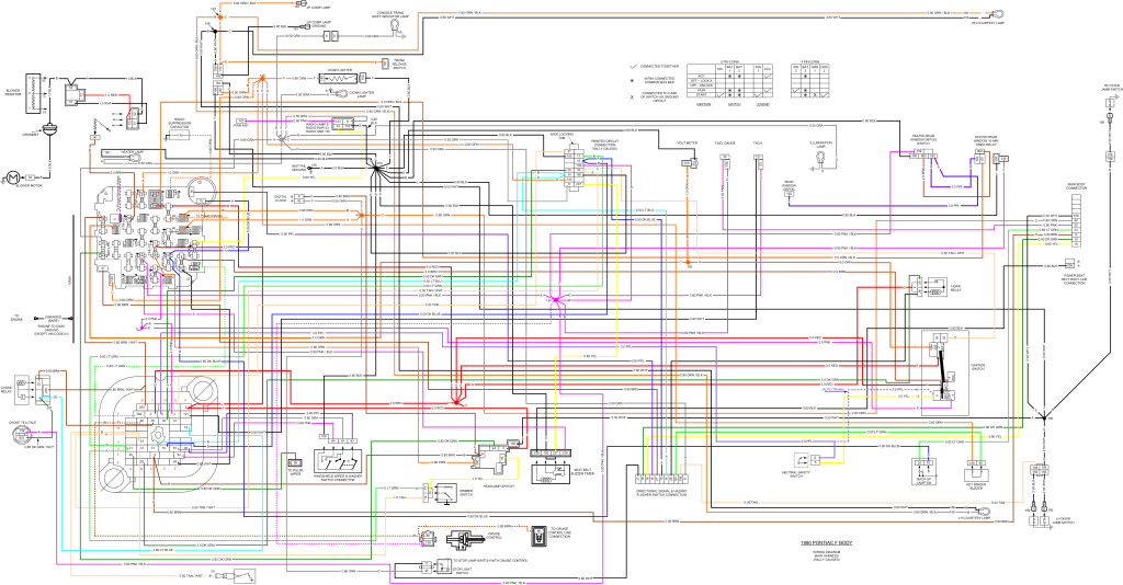 2nd Gen Pontiac Firebird Wiring Diagram