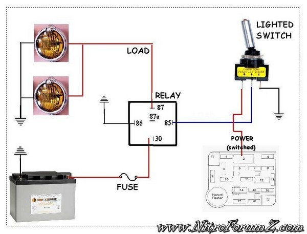Diagram 4 Pin Unbranded Fog Light Switch Wiring Diagram