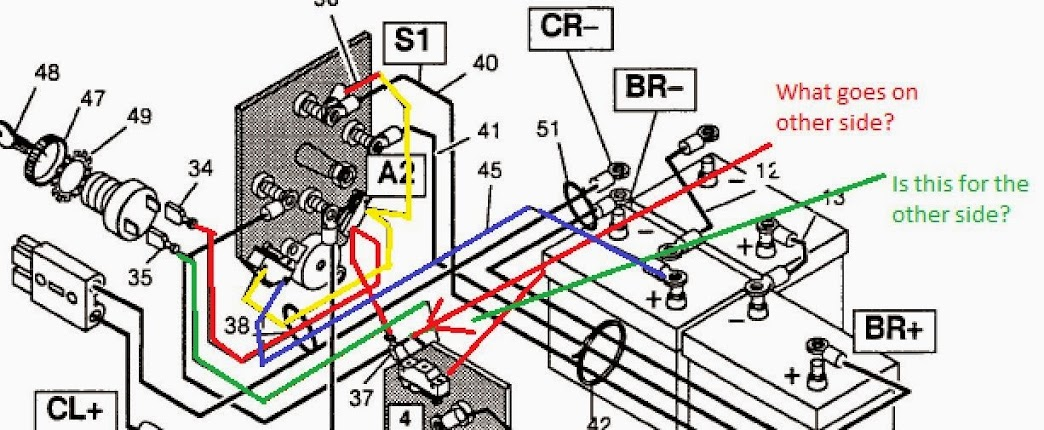 Battery Wiring Diagram For Ezgo Golf Cart from wiringall.com