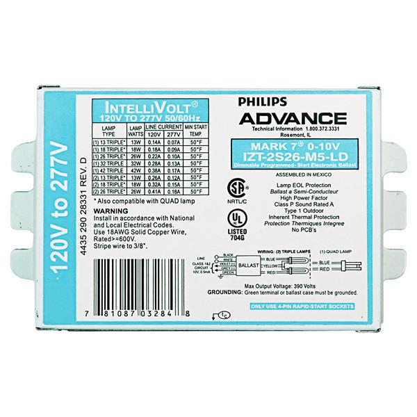 Advance Mark 10 Dimming Ballast Wiring Diagram
