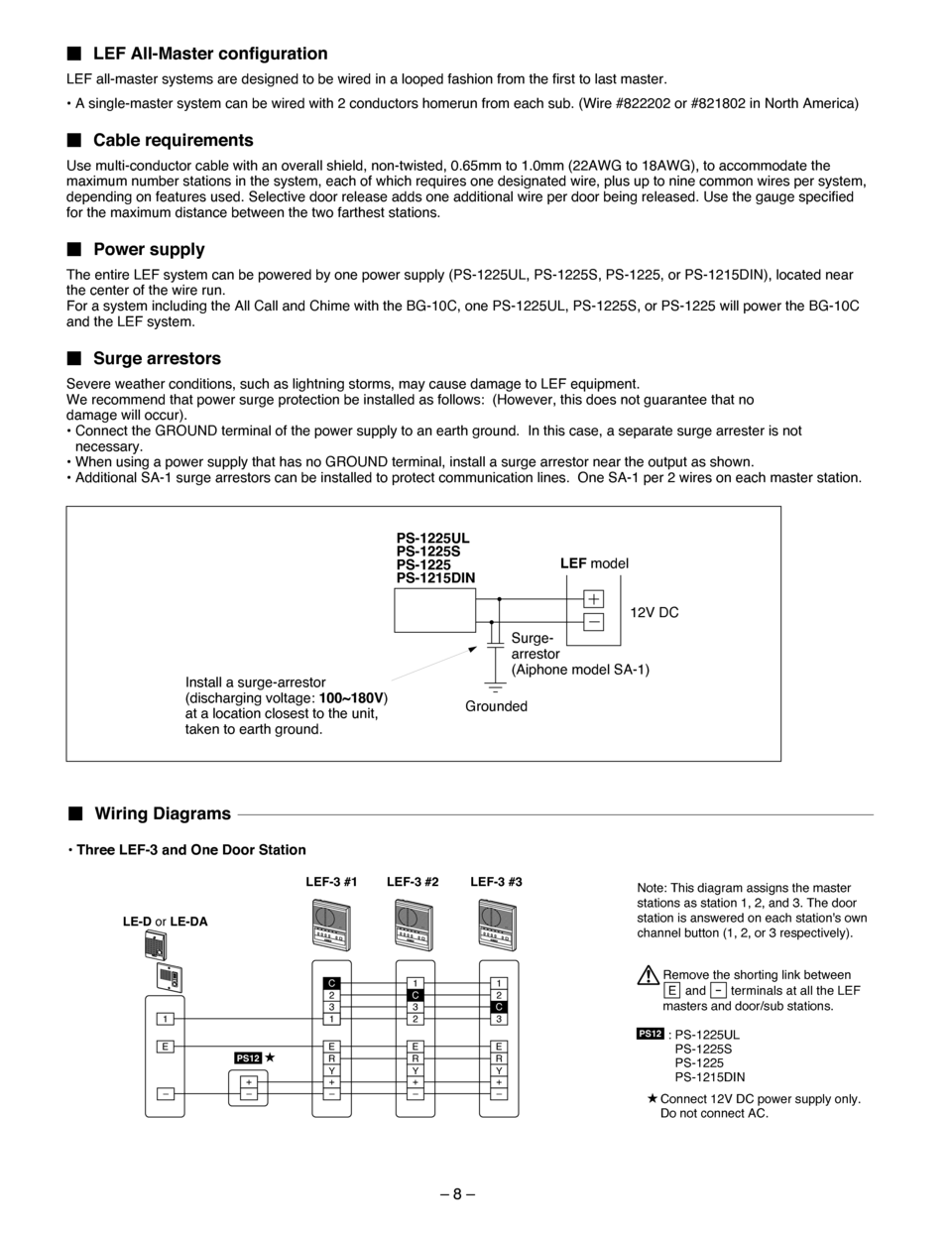 Aiphone Lef 3l Wiring Diagram on