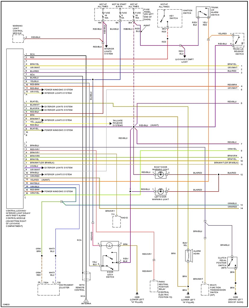 Audi A4 B6 Trunk Wiring Diagram