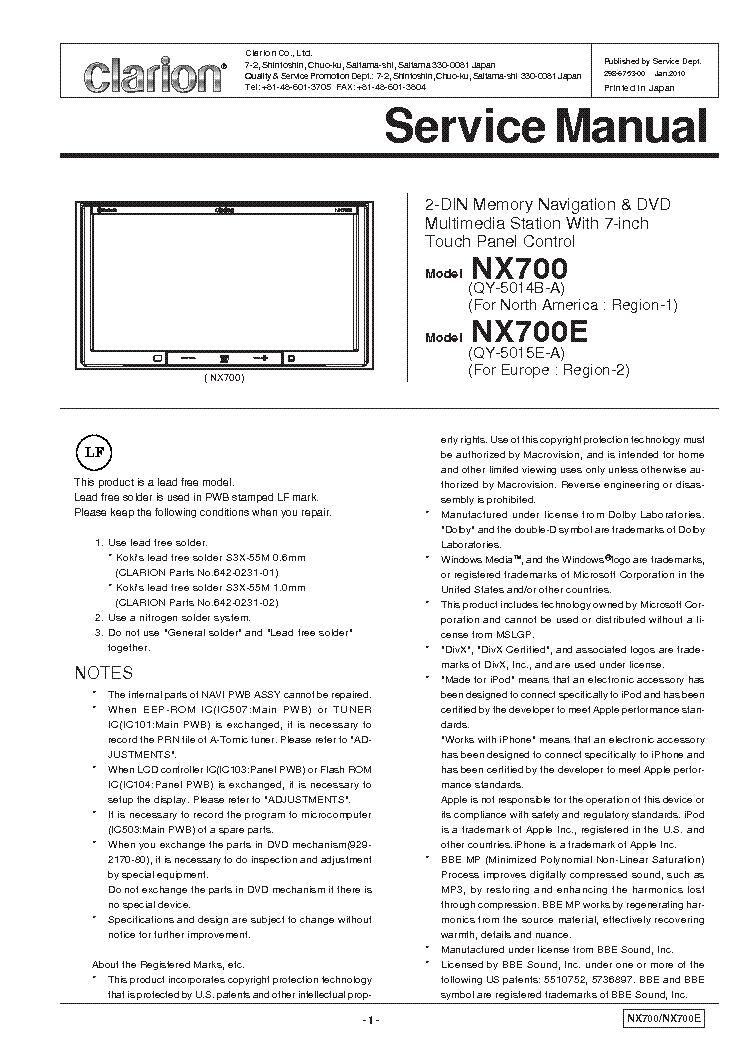 Clarion Cz101 Wiring Diagram