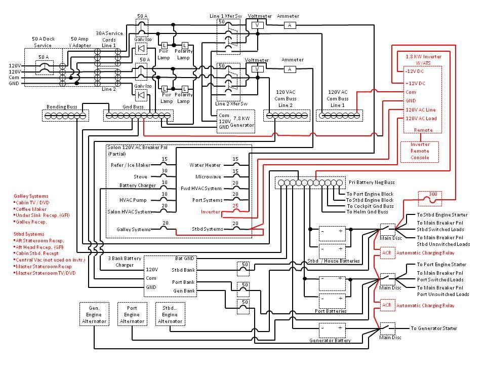 Club Searay Mercruiser 1998 Inverter Wiring Diagram