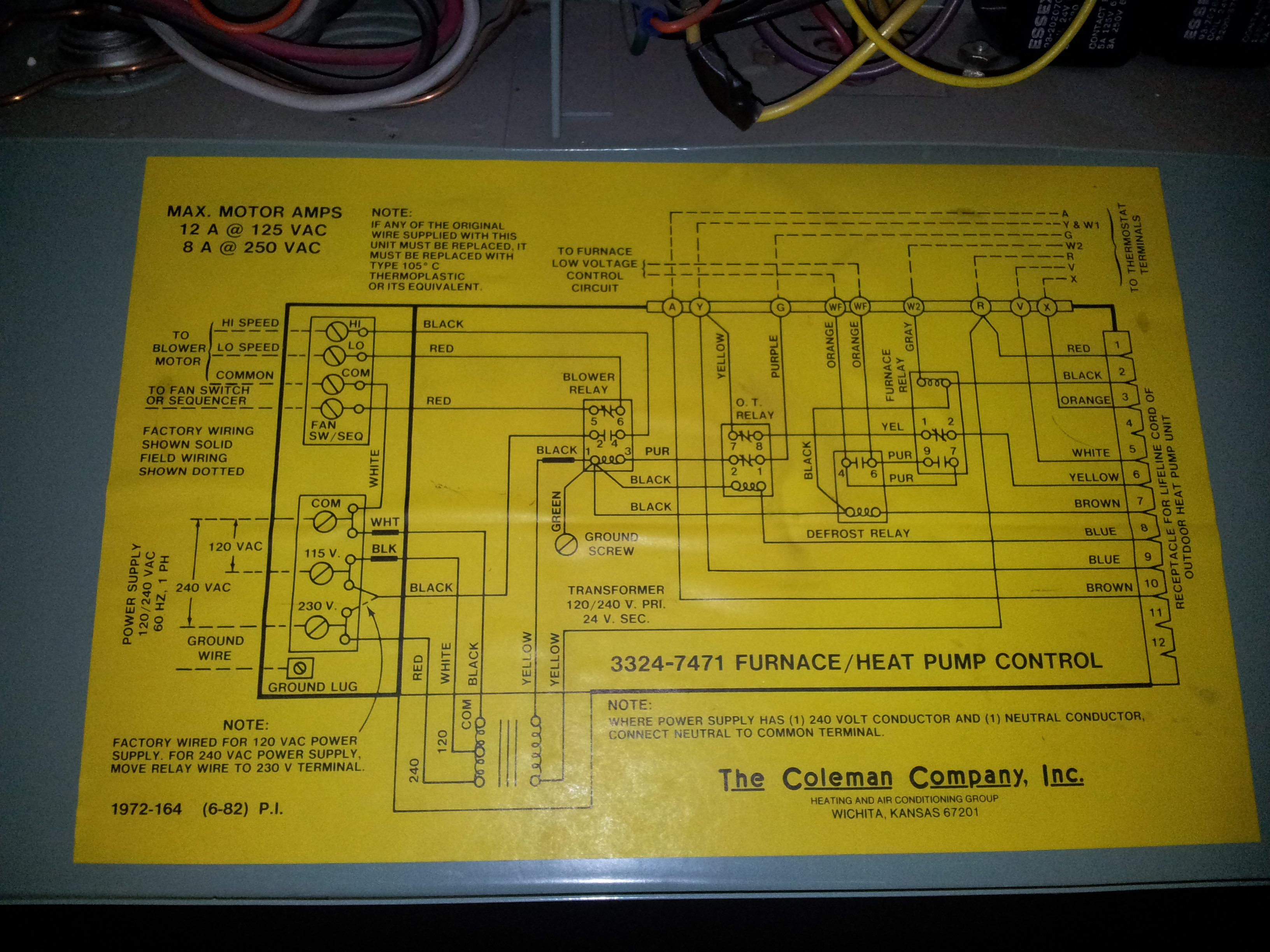 Coleman Thermostat Wiring Diagram from wiringall.com