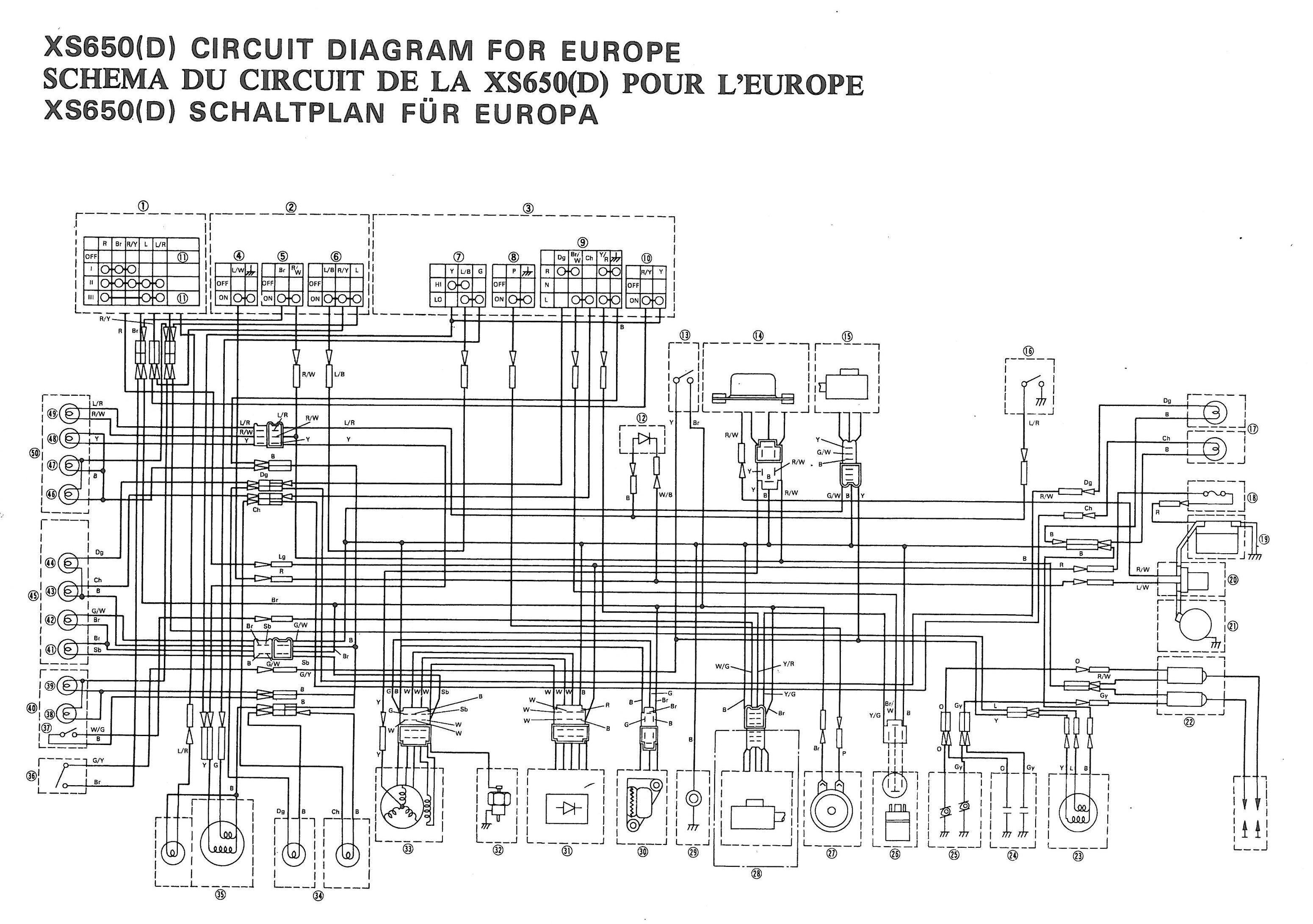 Color Schematics Yamaha Xs650 Wiring Diagram