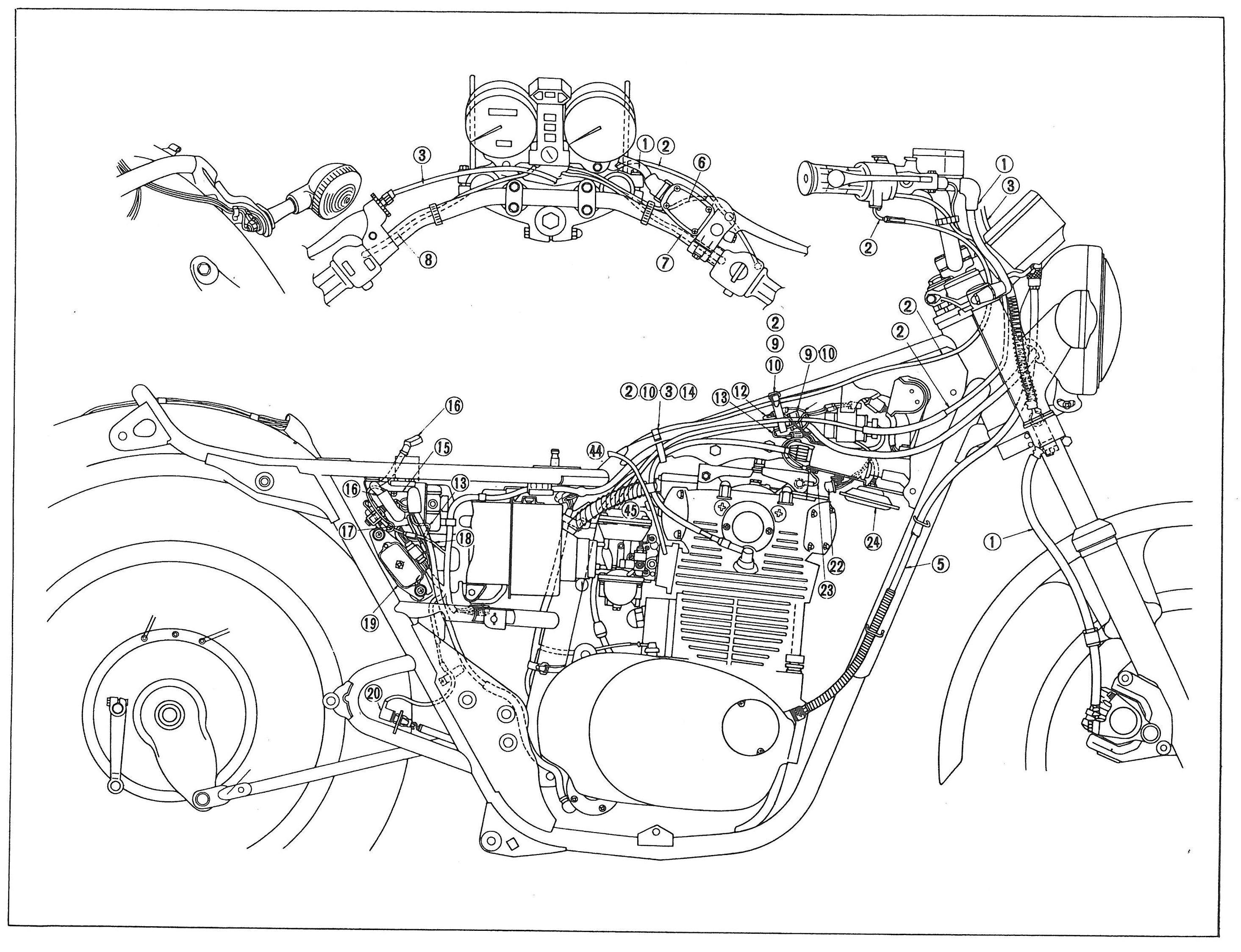 1979 Yamaha 650 Special Wiring Diagram