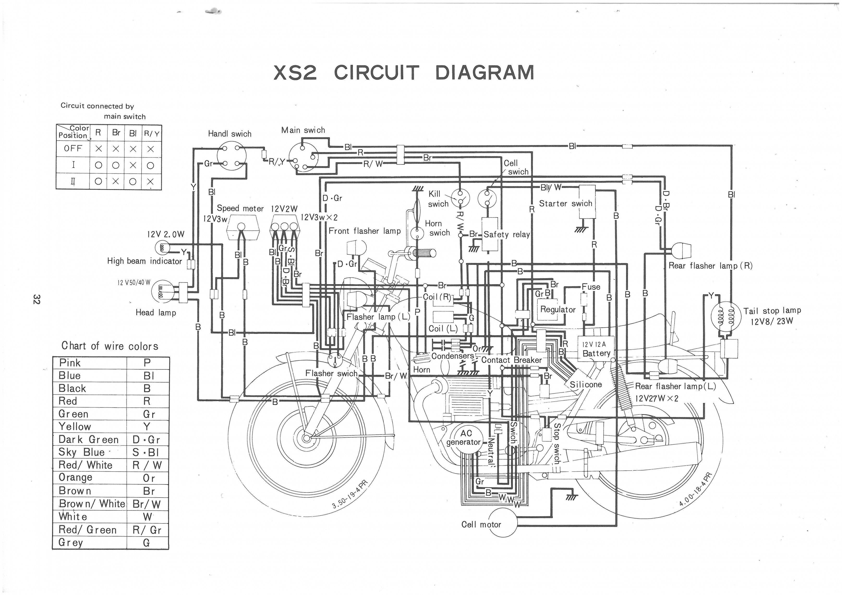 color-schematics-yamaha-xs650-wiring-diagram-29 Xs Wiring Diagram Color on