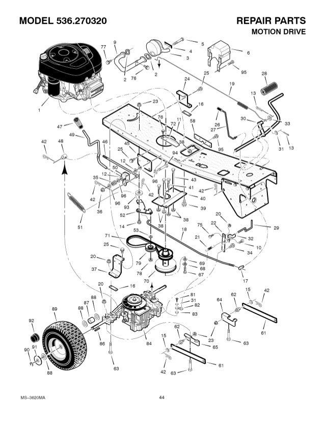 Craftsman Model 536 270320 Wiring Diagram