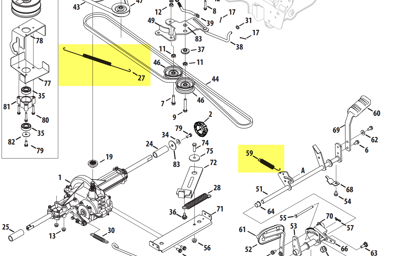 Cub Cadet I1046 Drive Belt Diagram