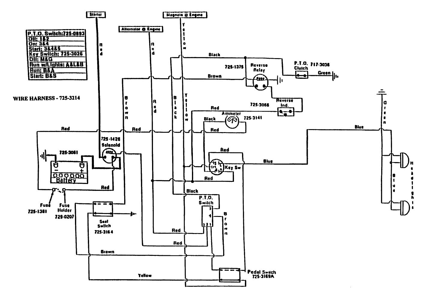 Cub Cadet Lt1042 Wiring Diagram
