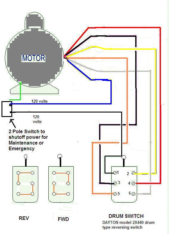 Dayton 2x440 Drum Switch Wiring Diagram on