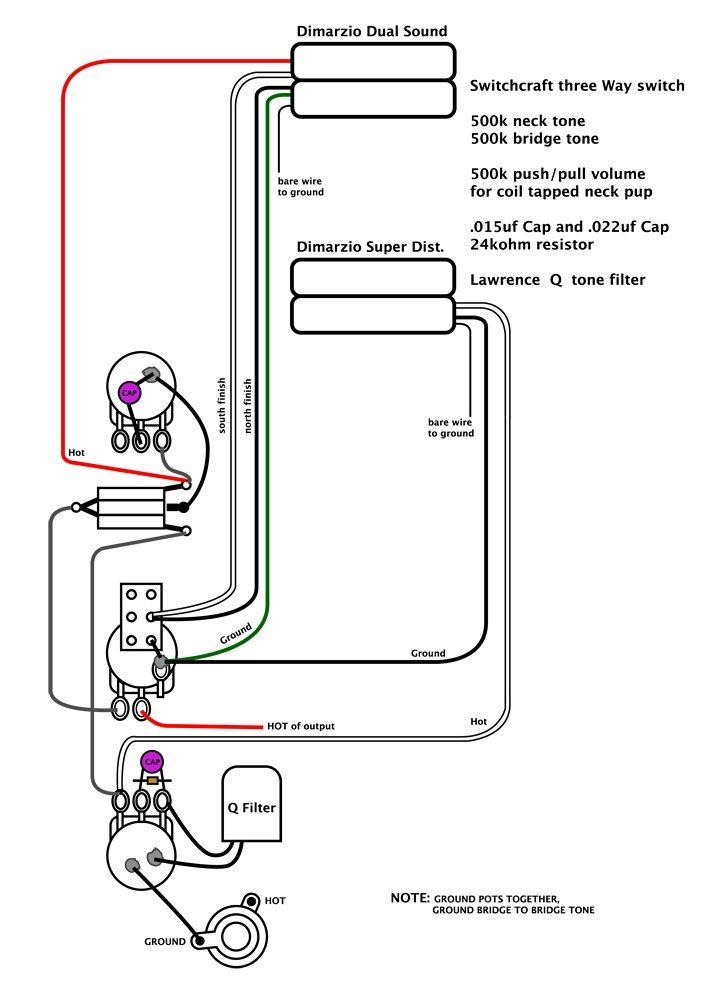 Dimarzio T Zone Wiring Diagram