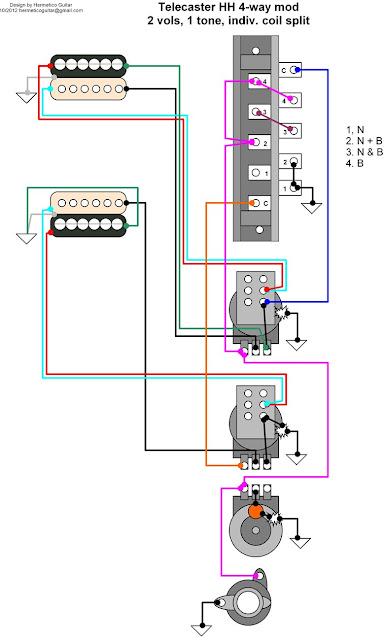 Dimarzio Wiring Diagram Hh 3 Way