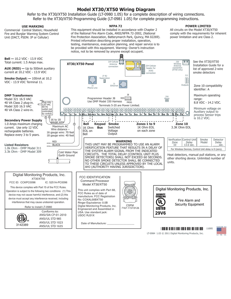 Dmp Xt30 Wiring Diagram
