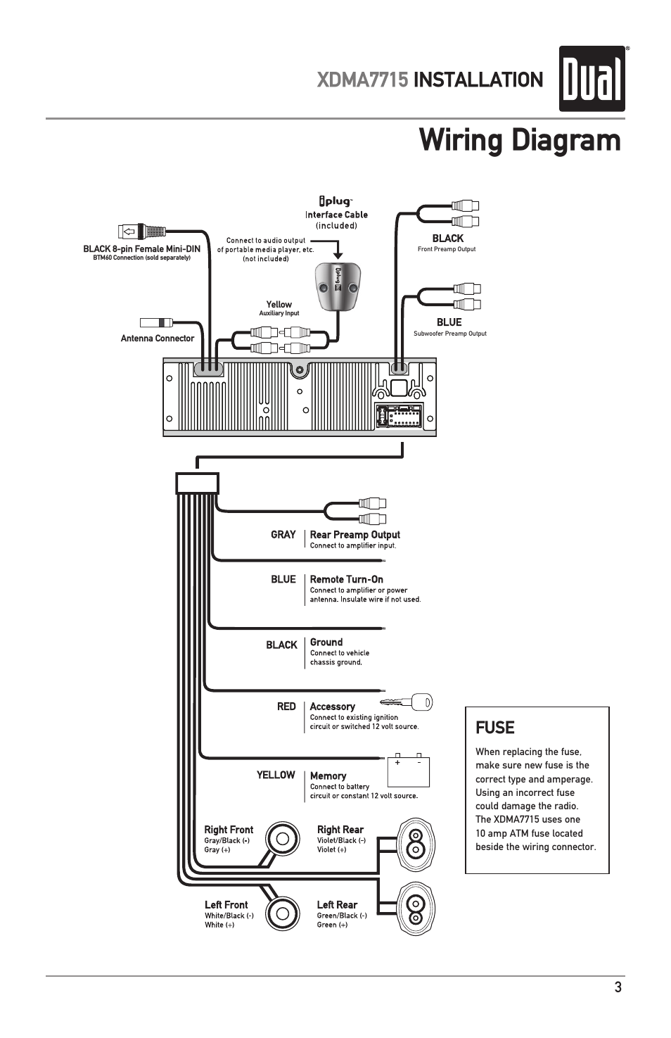dual xd1225 wiring diagram