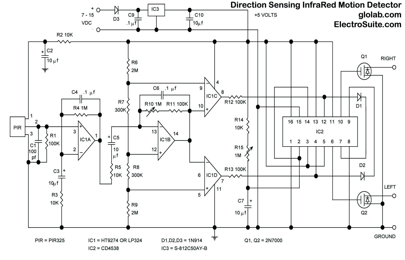 Schematic Motion Sensor Light Wiring Diagram from wiringall.com