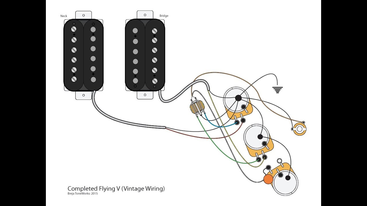 Epiphone Flying V Guitar Wiring Diagram