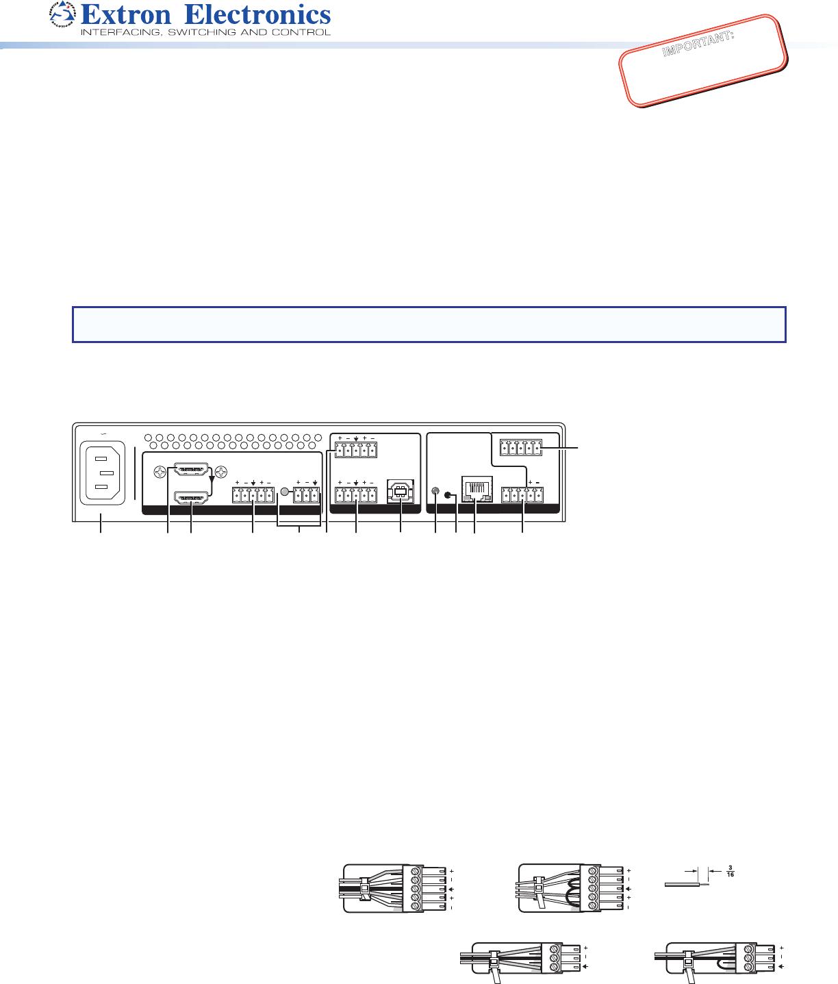 Extron Audio Wiring Diagram