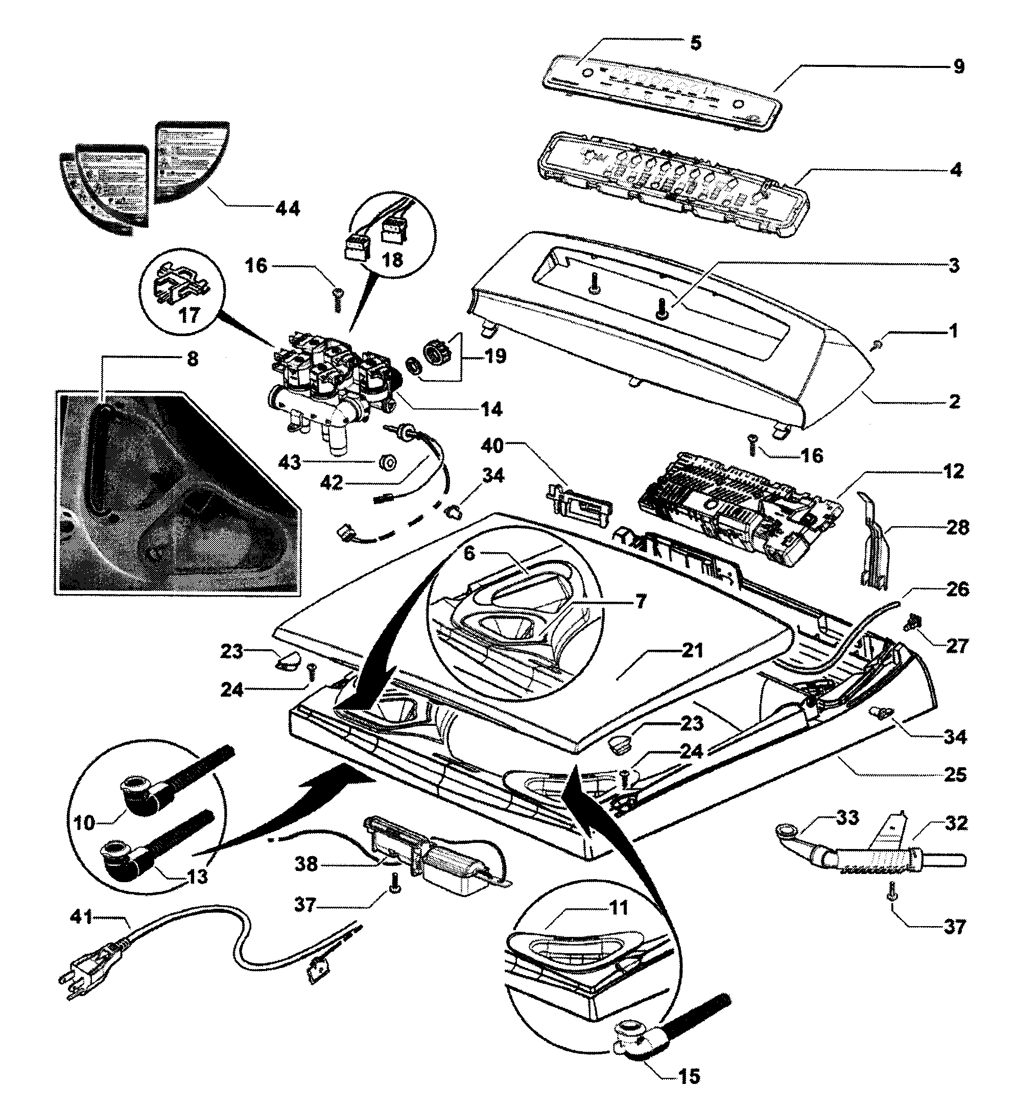 Fisher Paykel Gwl15 Parts Diagram