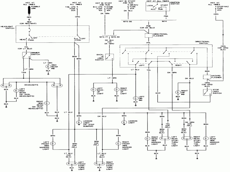 Ford F650 Truck 2000 Turn Signal Wiring Diagram