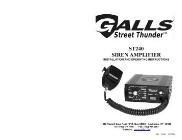 Galls Street Thunder Wiring Diagram St240 on
