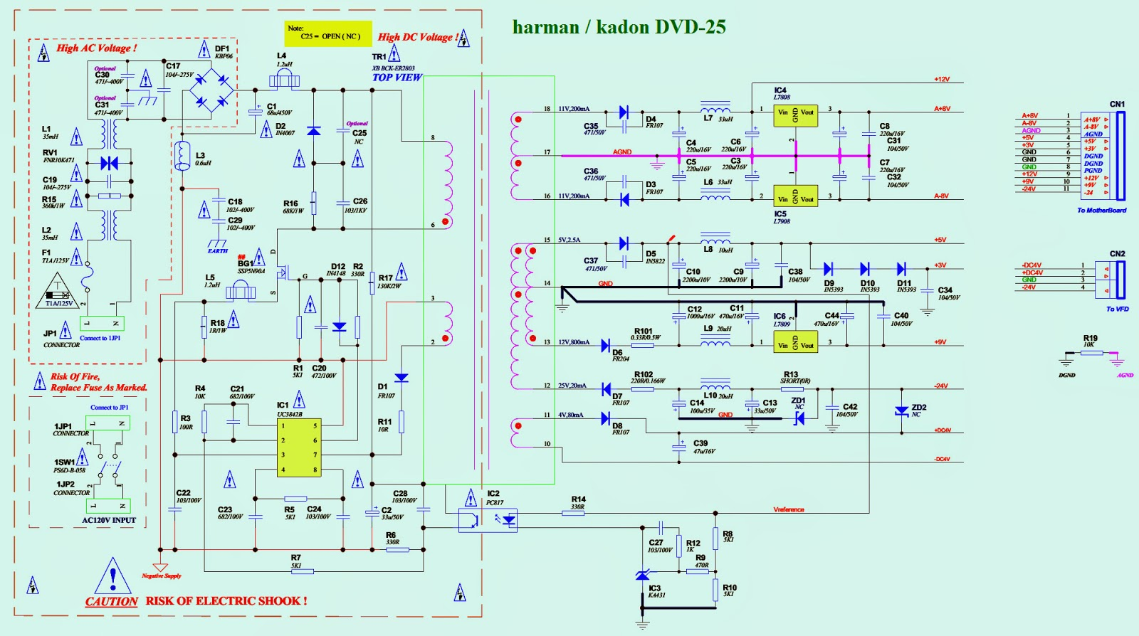 Harman Kardon Amr6356 Wiring Diagram