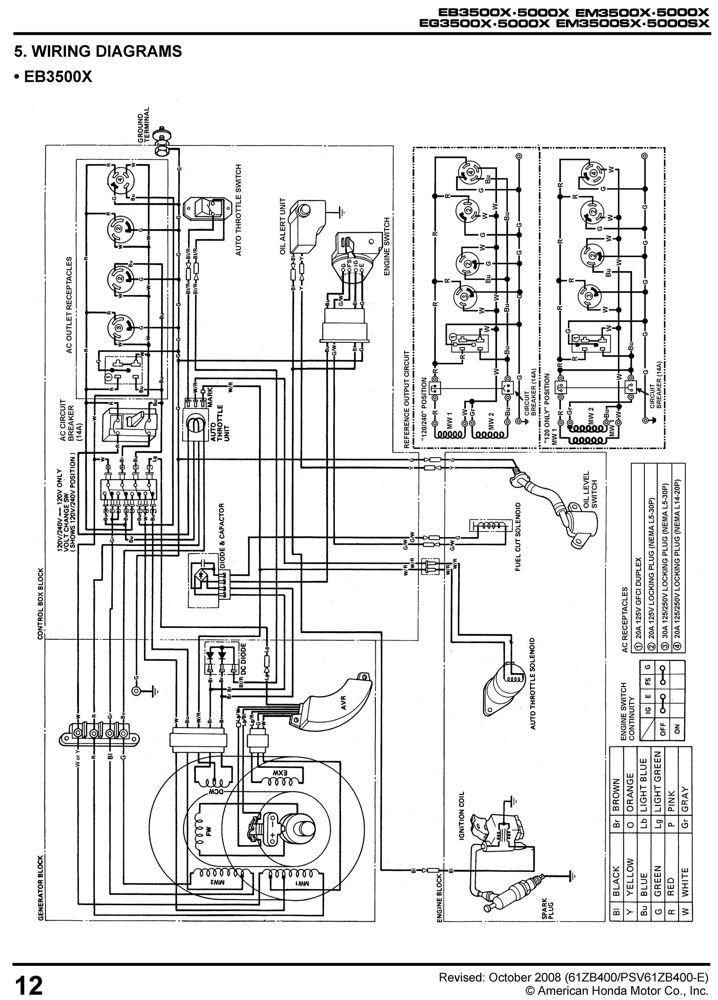 Honda Ex5500 Wiring Diagram
