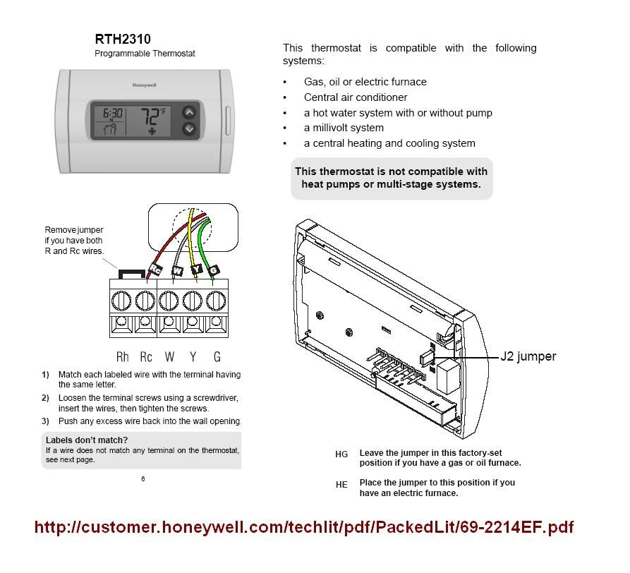 Honeywell Rth5160d Wiring Diagram
