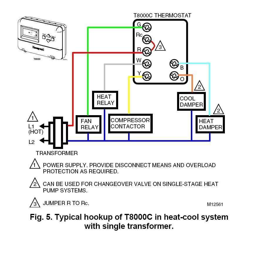 Honeywell Rth6580 Thermostat Wiring Diagram