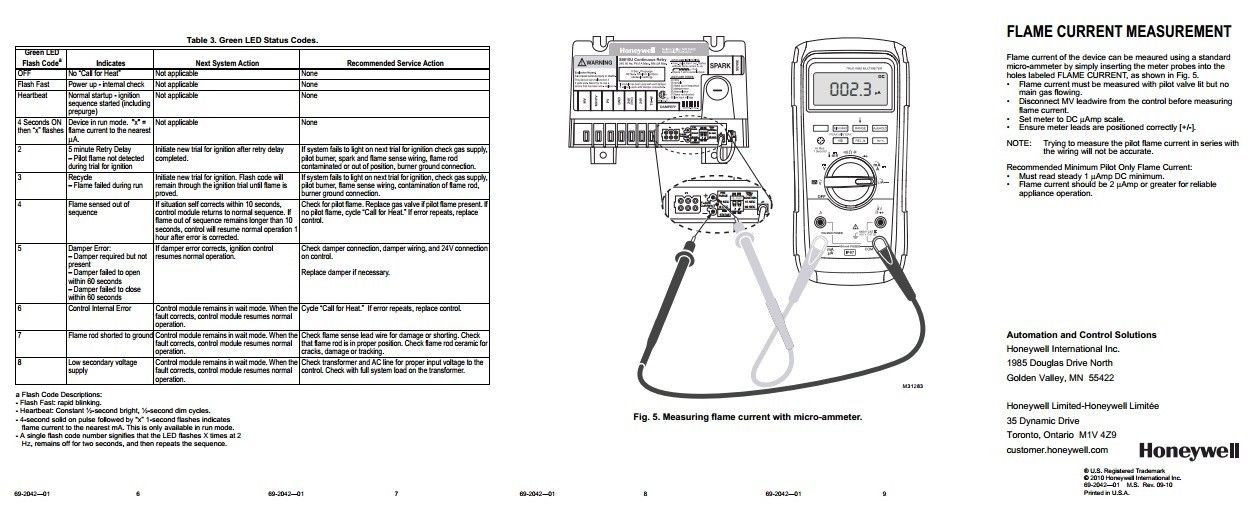 Honeywell S8610u In Place Of Honeywell S8600m Wiring Diagram