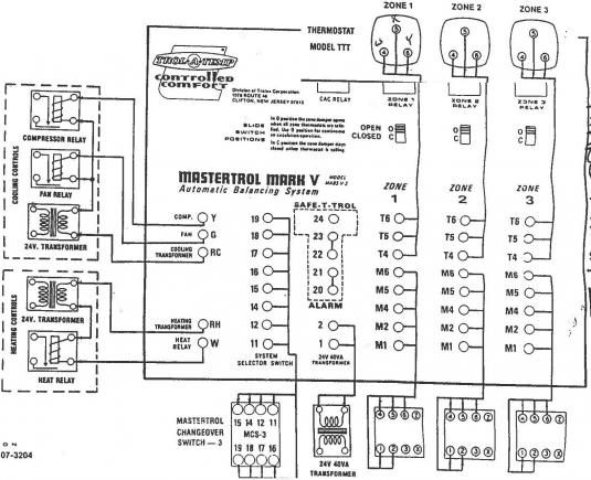 Honeywell Thermostat Model 4608 Wiring Diagram